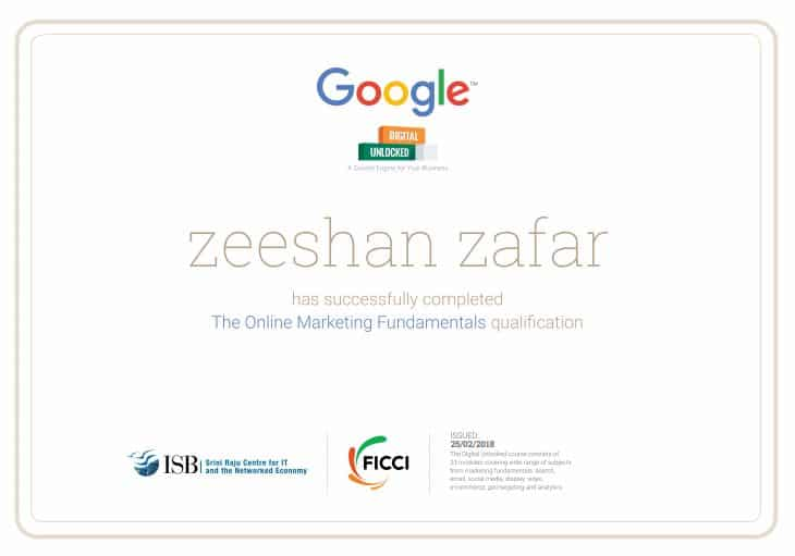 free online digital marketing course by google